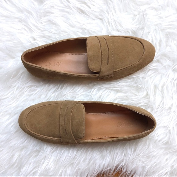 J. Crew Shoes - J. Crew | Camel/Tan Suede Penny Loafer 8.5